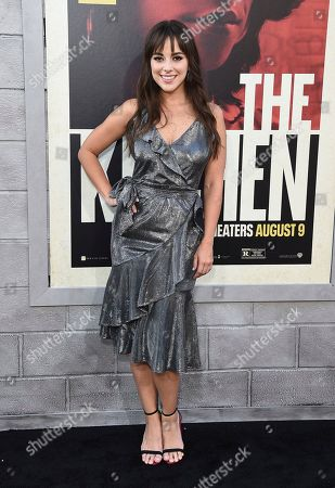 """Stock Image of Maria Elisa Camargo arrives at the world premiere of """"The Kitchen"""" at the TCL Chinese Theatre, in Los Angeles"""