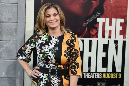 """Andrea Berloff arrives at the world premiere of """"The Kitchen"""" at the TCL Chinese Theatre, in Los Angeles"""