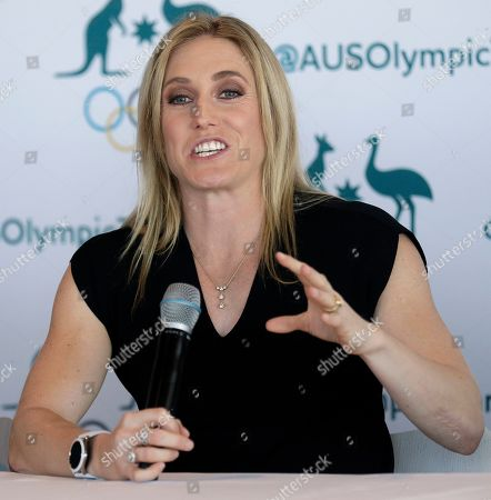 Australian athlete Sally Pearson announces her retirement in Sydney, Australia, . Pearson, who won the 100-meter hurdles gold medal at London in 2012 in an Olympic record time despite the rain, has retired from competitive track and field after a series of injuries
