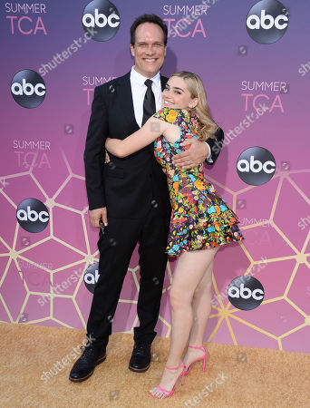 Stock Photo of Diedrich Bader and Meg Donnelly