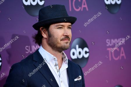 Mark-Paul Gosselaar poses at the ABC Television Critics Association Summer Press Tour All-Star Party at Soho House, in West Hollywood, Calif