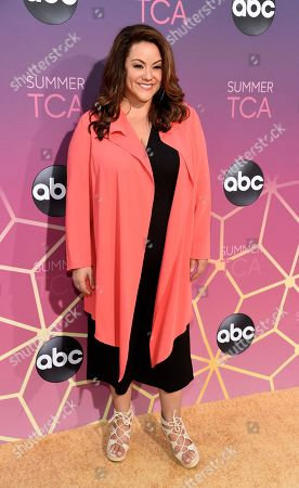 Katy Mixon poses at the ABC Television Critics Association Summer Press Tour All-Star Party at Soho House, in West Hollywood, Calif