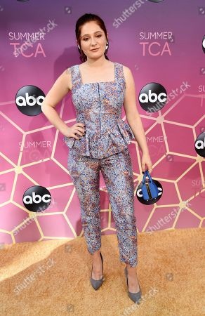 Emma Kenney poses at the ABC Television Critics Association Summer Press Tour All-Star Party at Soho House, in West Hollywood, Calif
