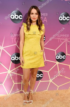 Stock Picture of Camilla Luddington poses at the ABC Television Critics Association Summer Press Tour All-Star Party at Soho House, in West Hollywood, Calif