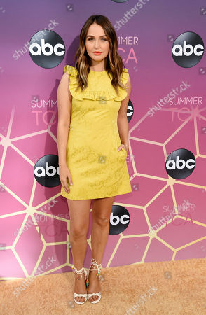"""Stock Image of Camilla Luddington, a cast member in the ABC series """"Grey's Anatomy,"""" poses at the ABC Television Critics Association Summer Press Tour All-Star Party at Soho House, in West Hollywood, Calif"""