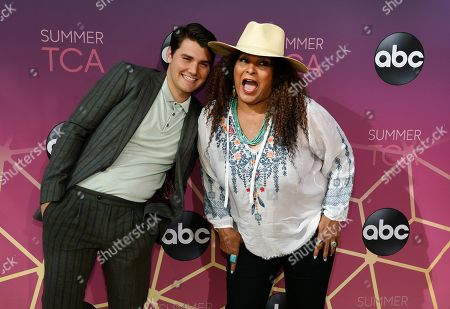 "JT Neal, Pam Grier. JT Neal, left, and Pam Grier, cast members in the ABC series ""Bless This Mess,"" pose together at the ABC Television Critics Association Summer Press Tour All-Star Party at Soho House, in West Hollywood, Calif"