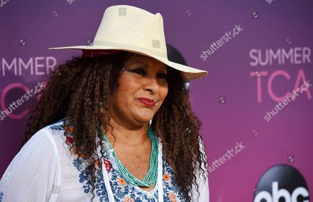 Pam Grier poses at the ABC Television Critics Association Summer Press Tour All-Star Party at Soho House, in West Hollywood, Calif