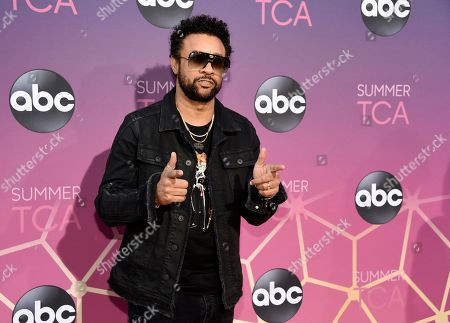 "Shaggy, a cast member in the upcoming ABC live musical ""The Little Mermaid,"" poses at the ABC Television Critics Association Summer Press Tour All-Star Party at Soho House, in West Hollywood, Calif"