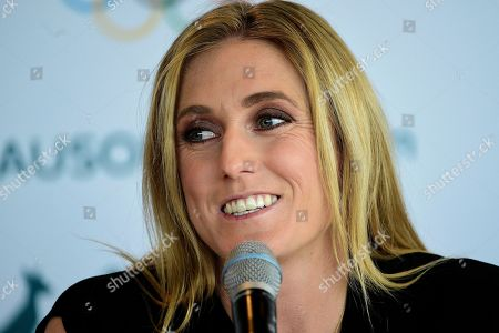 Stock Picture of Australian Olympian Sally Pearson announces her retirement during a press conference in Sydney, Australia, 06 August 2019. Australia's greatest modern-day track and field athlete Sally Pearson has announced her retirement due to a spate of ongoing injuries.