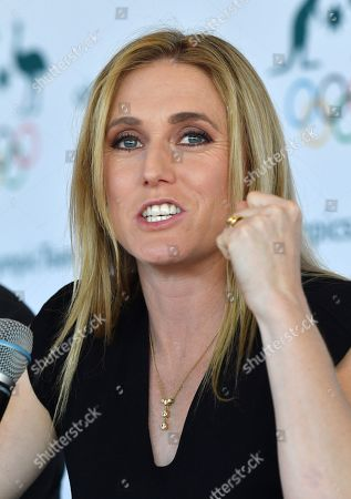 Australian Olympian Sally Pearson announces her retirement during a press conference in Sydney, Australia, 06 August 2019. Australia's greatest modern-day track and field athlete Sally Pearson has announced her retirement due to a spate of ongoing injuries.