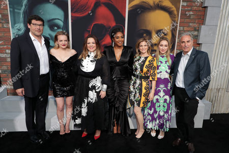 Stock Image of Richard Brener - President and Chief Creative Officer, New Line Cinema, Elisabeth Moss, Melissa McCarthy, Tiffany Haddish, Director/Writer Andrea Berloff, Blair Rich - President, Worldwide Marketing, Warner Bros. Pictures Group and Warner Bros. Home Entertainment and Producer Marcus Viscidi