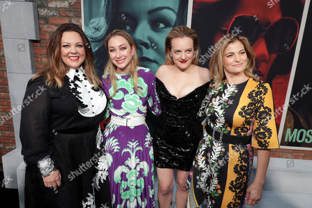 Stock Picture of Melissa McCarthy, Blair Rich - President, Worldwide Marketing, Warner Bros. Pictures Group and Warner Bros. Home Entertainment, Elisabeth Moss and Director/Writer Andrea Berloff