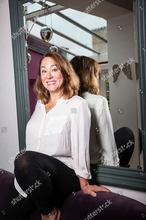 Arabella Weir, British actress, comedian and script writer best known for Fast Show, in Crouch End, North London