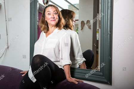 Stock Photo of Arabella Weir, British actress, comedian and script writer best known for Fast Show, in Crouch End, North London
