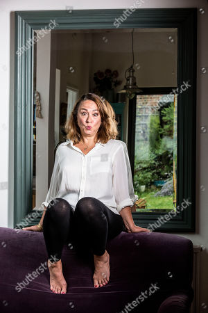 Stock Image of Arabella Weir, British actress, comedian and script writer best known for Fast Show, in Crouch End, North London