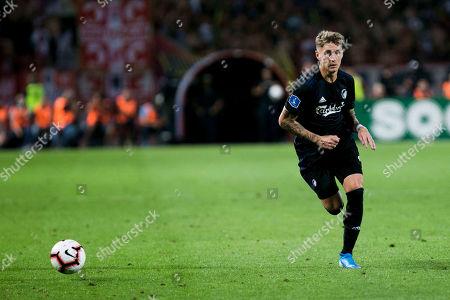 Guillermo Varela of FC Copenhagen comes forward on the ball
