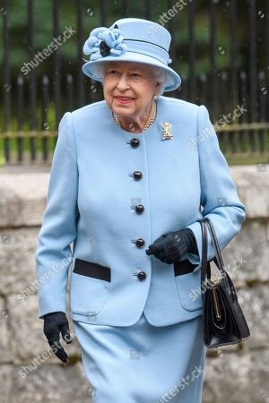 Queen Elizabeth II official arrival at Balmoral