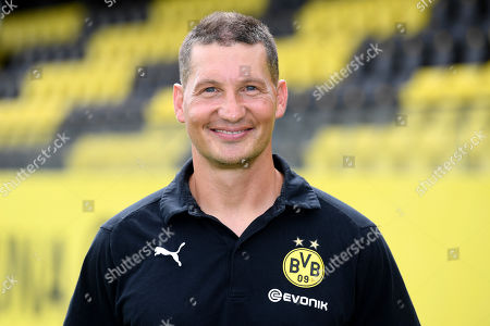 Stock Picture of Dortmund's assistant coach Andreas Beck poses during the presentation of German Bundesliga soccer team Borussia Dortmund in Dortmund, Germany, 06 August 2019.