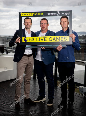 Premier Sports today unveiled a new, fresh and exciting broadcast team for its coverage of the 2019/2020 Premier League Season featuring analysts Richard Dunne and Kenny Cunningham, host Eoin McDevitt and commentators Des Curran, Gary Breen and Clive Tyldesley. Pictured today is (L-R) Gary Breen, Richard Dunne and Chris Sutton