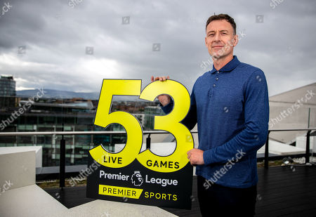 Premier Sports today unveiled a new, fresh and exciting broadcast team for its coverage of the 2019/2020 Premier League Season featuring analysts Richard Dunne and Kenny Cunningham, host Eoin McDevitt and commentators Des Curran, Gary Breen and Clive Tyldesley. Pictured today is Chris Sutton