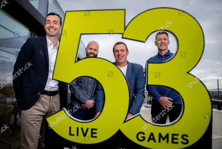 Premier Sports today unveiled a new, fresh and exciting broadcast team for its coverage of the 2019/2020 Premier League Season featuring analysts Richard Dunne and Kenny Cunningham, host Eoin McDevitt and commentators Des Curran, Gary Breen and Clive Tyldesley. Pictured today is (L-R) Gary Breen, Eoin McDevitt, Richard Dunne and Chris Sutton