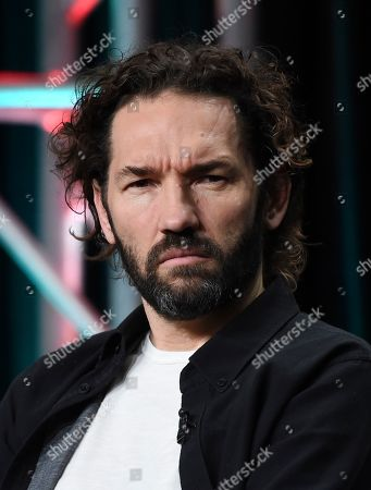"""Nash Edgerton, the executive producer/director of the FX series """"Mr. Inbetween,"""" takes part in a panel discussion during the 2019 Television Critics Association Summer Press Tour, in Beverly Hills, Calif"""