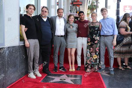 Austin Abrams, Guillermo Del Toro, Writer/Producer, Andre Ovredal, Writer, Zoe Margaret Colletti, Michael Garza, Natalie Ganzhorn, Gabriel Rush