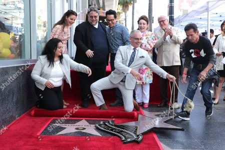 Stock Image of Rana Ghadban, President and CEO of the Hollywood Chamber of Commerce, Lana Del Rey, Guillermo Del Toro, Writer/Producer, J.J. Mitch O'Farrell, Los Angeles City Council member, Abrams, Donelle Dadigan, Vice Chair of the California Film Commission and Chairperson for The Hollywood Chamber of Commerce/Walk of Fame, Vin Di Bona