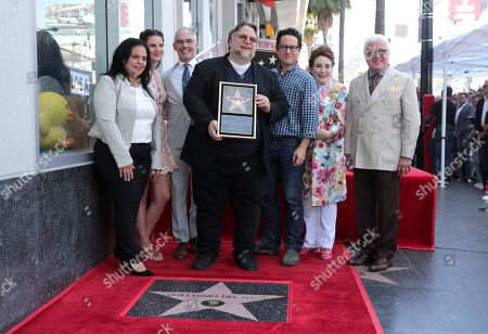 Rana Ghadban, President and CEO of the Hollywood Chamber of Commerce, Lana Del Rey, Mitch O'Farrell, Los Angeles City Council member, Guillermo Del Toro, Writer/Producer, J.J. Abrams, Donelle Dadigan, Vice Chair of the California Film Commission and Chairperson for The Hollywood Chamber of Commerce/Walk of Fame, Vin Di Bona