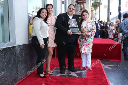 Rana Ghadban, President and CEO of the Hollywood Chamber of Commerce, Lana Del Rey, Guillermo Del Toro, Writer/Producer, Donelle Dadigan, Vice Chair of the California Film Commission and Chairperson for The Hollywood Chamber of Commerce/Walk of Fame