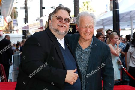 Guillermo Del Toro (L) and US film director Michael Mann as Del Toro is honored with the 2669th star on the Hollywood Walk of Fame in Los Angeles, California, USA 06 August 2019. His star is dedicated in the Category of Motion Pictures..