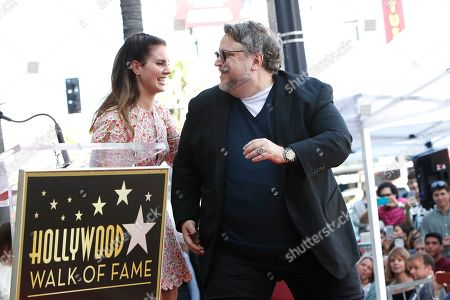 Lana Del Rey and Mexican filmmaker Guillermo Del Toro at a ceremony where Del Toro is honored with the 2669th star on the Hollywood Walk of Fame in Los Angeles, California, USA 06 August 2019. His star is dedicated in the Category of Motion Pictures.
