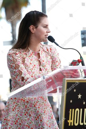 Lana Del Rey speaks as Mexican filmmaker Guillermo Del Toro is honored with the 2669th star on the Hollywood Walk of Fame in Los Angeles, California, USA 06 August 2019. His star is dedicated in the Category of Motion Pictures.