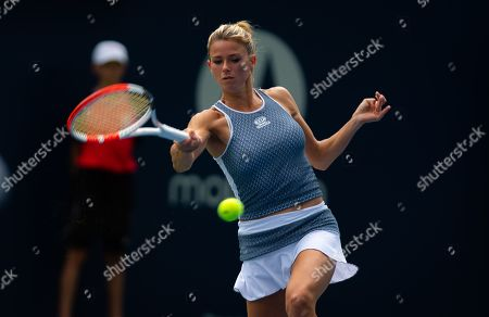 Camila Giorgi of Italy in action during the first round