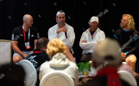 Stock Image of Torben Beltz, Iain Hughes, Dmitry Tursunov speak at the WTA Coaches Conference
