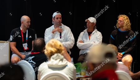 Stock Photo of Torben Beltz, Iain Hughes, Dmitry Tursunov speak at the WTA Coaches Conference