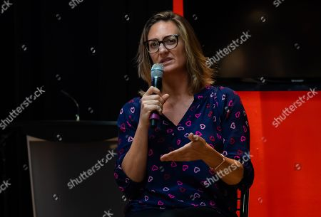 Mary Pierce speaks at the WTA Coaches Conference