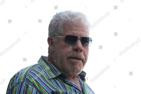 Ron Perlman arrives at a ceremony honoring Guillermo del Toro with a star at the Hollywood Walk of Fame, in Los Angeles