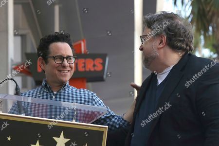 J.J. Abrams, Guillermo del Toro. J.J. Abrams, left, and Guillermo del Toro smile at each other during a ceremony honoring Guillermo del Toro with a star at the Hollywood Walk of Fame, in Los Angeles