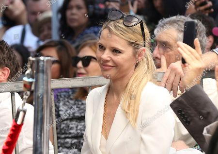 Kim Morgan attends a ceremony honoring Guillermo del Toro with a star at the Hollywood Walk of Fame, in Los Angeles