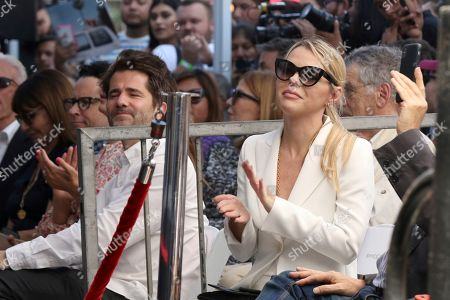 Kim Morgan applauds during a ceremony honoring Guillermo del Toro with a star at the Hollywood Walk of Fame, in Los Angeles
