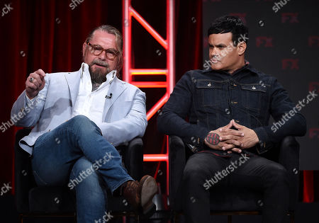 Stock Picture of Kurt Sutter and Elgin James