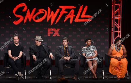 Stock Picture of Dave Andron, Walter Mosley, Carter Hudson, Angela Lewis, Michael Hyatt