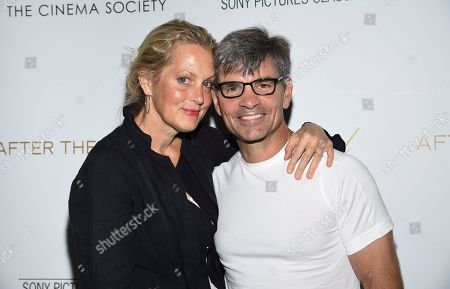 """Ali Wentworth, George Stephanopoulos. Actress Ali Wentworth, left, and husband, journalist George Stephanopoulos, attend a special screening of """"After the Wedding,"""" hosted by Chopard with Sony Pictures Classics and The Cinema Society, at the Regal Essex, in New York"""