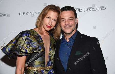 """Alysia Reiner, David Alan Basche. Actors Alysia Reiner, left, and David Alan Basche attend a special screening of """"After the Wedding,"""" hosted by Chopard with Sony Pictures Classics and The Cinema Society, at the Regal Essex, in New York"""