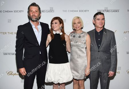 "Bart Freundlich, Julianne Moore, Michelle Williams, Billy Crudup. Director Bart Freundlich, left, poses with actors Julianne Moore, Michelle Williams and Billy Crudup at a special screening of ""After the Wedding,"" hosted by Chopard with Sony Pictures Classics and The Cinema Society, at the Regal Essex, in New York"