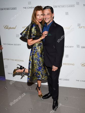 "Alysia Reiner, David Alan Basche. Actors Alysia Reiner, left, and David Alan Basche attend a special screening of ""After the Wedding"", hosted by Chopard with Sony Pictures Classics and The Cinema Society, at the Regal Essex, in New York"
