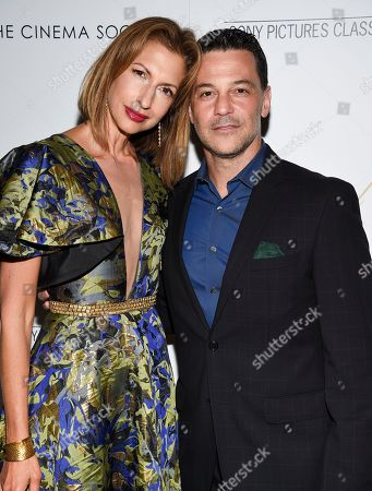 """Alysia Reiner, David Alan Basche. Actors Alysia Reiner, left, and David Alan Basche attend a special screening of """"After the Wedding"""", hosted by Chopard with Sony Pictures Classics and The Cinema Society, at the Regal Essex, in New York"""