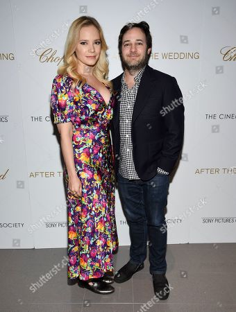 """Caitlin Mehner, Danny Strong. Caitlin Mehner, left, and Danny Strong attend a special screening of """"After the Wedding"""", hosted by Chopard with Sony Pictures Classics and The Cinema Society, at the Regal Essex, in New York"""