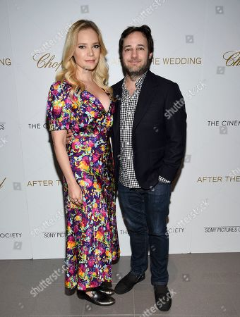 "Caitlin Mehner, Danny Strong. Caitlin Mehner, left, and Danny Strong attend a special screening of ""After the Wedding"", hosted by Chopard with Sony Pictures Classics and The Cinema Society, at the Regal Essex, in New York"